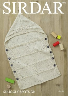 Baby's Sleeping Bag in Sirdar Snuggly Spots DK - 4893 - Downloadable PDF