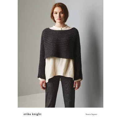 Sussex Square Sweater in Erika Knight Wild Wool - 72001100 - Downloadable PDF
