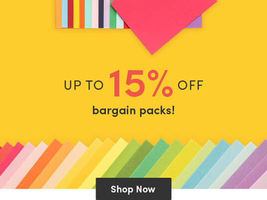 Up to 15 percent off bargain packs!