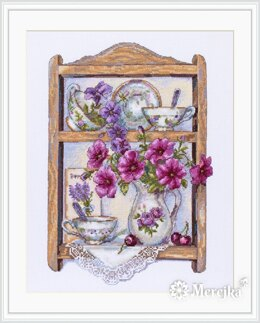 Merejka Petunias Cross Stitch Kit - 21cm x 31cm