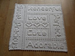 Precious Words One-Piece Baby Blanket