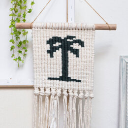 Macrame Wallhanger Bora-Bora in Hoooked Spesso Eco Barbante Chunky Cotton - Downloadable PDF