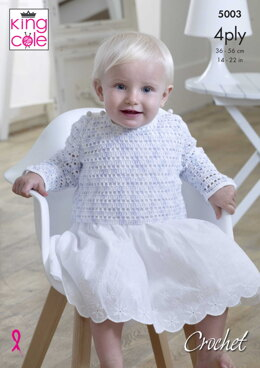 Pinafore Dress, Sweater, Cardigan, Waistcoat & Blanket in Giza 4 Ply - 5003 - Downloadable PDF