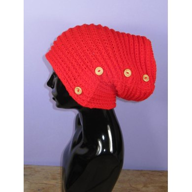 Sideways Fishermans Rib Button Up Slouch Hat