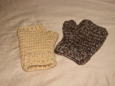 Basic Fingerless Mitts with Thumb Gusset