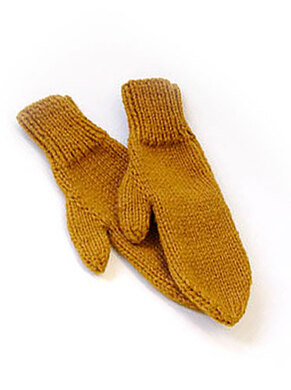 2-needle mittens in Lion Brand Wool-Ease Chunky - 70746AD ...