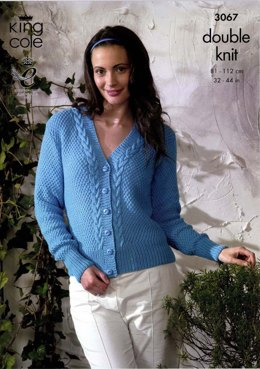 Cardigan and Sweater King Cole Bamboo Cotton DK - 3067