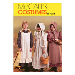 McCall's Girls' Pioneer Costumes M7231 - Sewing Pattern