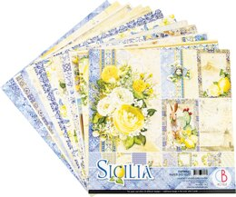 "Ciao Bella Double-Sided Paper Pack 90lb 12""X12"" 12/Pkg - Sicilia, 12 Designs/1 Each"