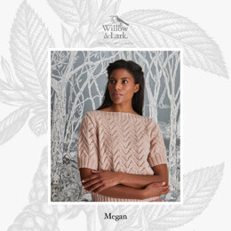 """Megan Boat Neck Jumper"" - Sweater Knitting Pattern For Women in Willow & Lark Poetry by Willow & Lark"