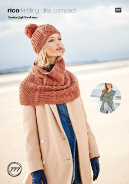 Jacket, Snood & Hat in Rico Creative Soft Wool Aran - 777 - Downloadable PDF