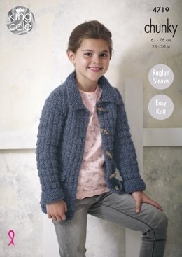 Jackets in King Cole Chunky - 4719