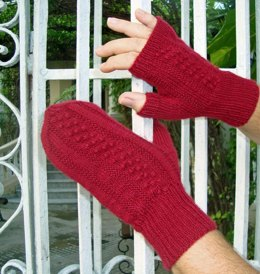 Bumps in the Night Fingerless Mitts & Mittens