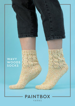 Wavy Woods Socks in Paintbox Yarns Socks - Downloadable PDF