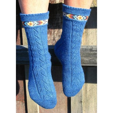 Indian Feather Socks (front design)