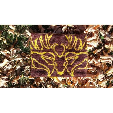 Peryton (Winged Deer) Double Knit Cowl