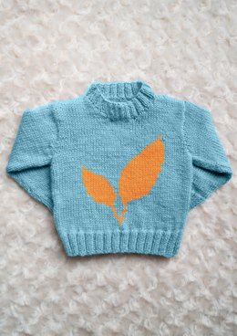 Intarsia - Leaves Chart - Childrens Sweater