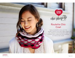Roulette Chic Cowl in Red Heart Chic Sheep - LW6912 - Downloadable PDF