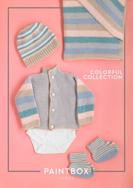 Colorful Collection - Crochet Pattern For Babies in Paintbox Yarns Baby DK by Paintbox Yarns