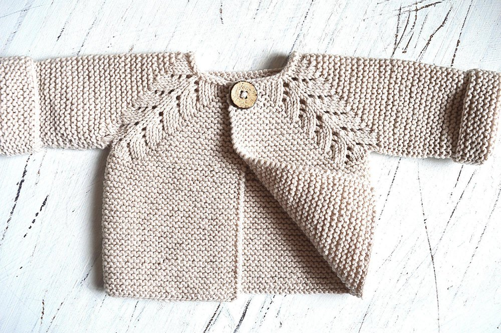 Norwegian Fir Top Down Cardigan - P109 Knitting pattern by OGE Knitwear Designs