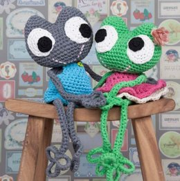 Frog Toy in Hoooked RibbonXL