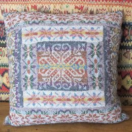 Fairisle Patch Cushion