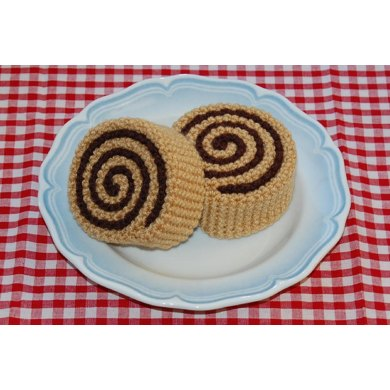 Crochet Pattern for Cinnamon Rolls / Pastries - Fake Food