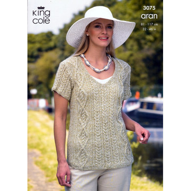 Sweater and Jacket Knitted in King Cole Fashion Aran - 3075
