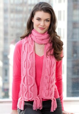 Compassion Scarf In Red Heart Super Saver Economy Solids