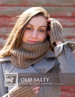 Old Salty Cowl & Hand Warmers in Juniper Moon Farm Stratus - J43-03 - Downloadable PDF