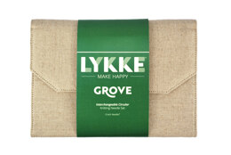 Lykke Grove 5in IC Set - Beige Jute Canvas Interchangeable Tips Needle (12 Pairs)
