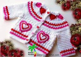 Hearts of Love Sweater PDF 12-093