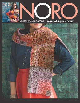 Mitered Square Scarf in Noro Hakone - 13259 - Downloadable PDF