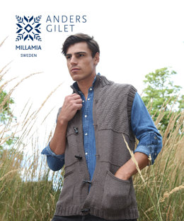 Anders Gilet in MillaMia Naturally Soft Aran - Downloadable PDF