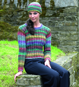 Sweater & Hat in Noro Silk Garden