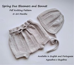 Spring Duo Bloomers and Bonnet