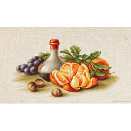 Luca-S Still Life with Oranges Cross Stitch Kit