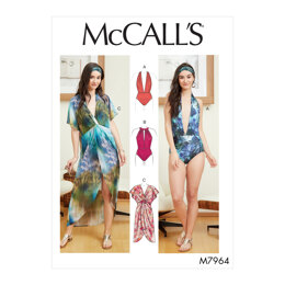 McCall's Misses' Swimsuit and Cover-Up M7964 - Sewing Pattern
