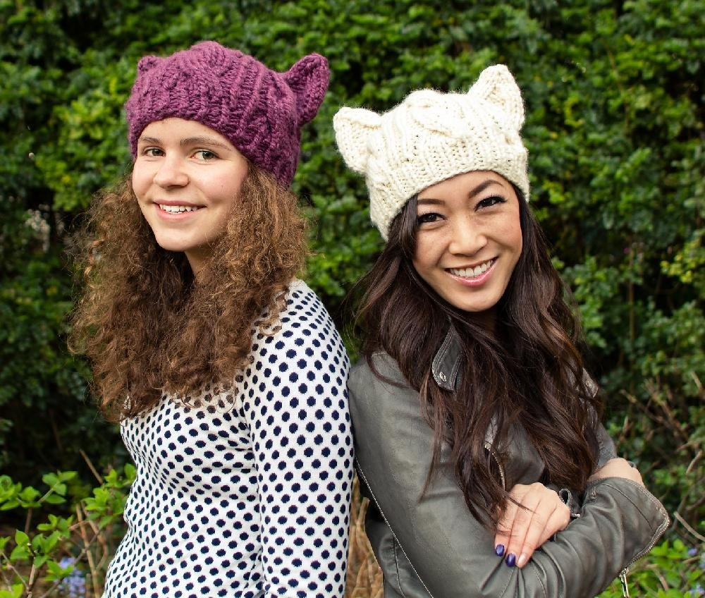 Cabled Cat Ears Hat Knitting pattern by Knits for Life | Knitting ...