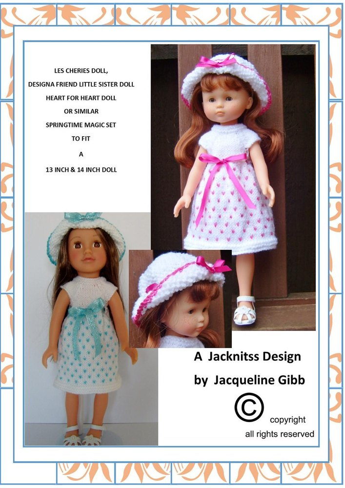 lc02 springtime magic for 13 and 14inch dolls knitting pattern by
