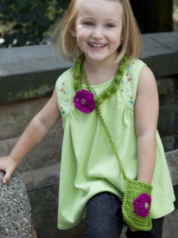 Necklace & Purse Set in Caron Simply Soft Party - Downloadable PDF