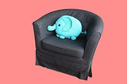 Elephant Pillow Crochet Pattern