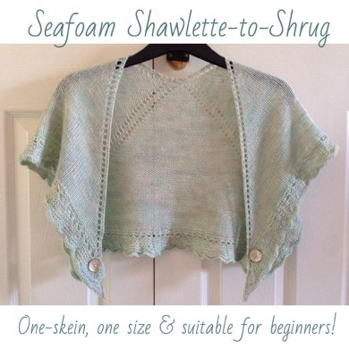 Seafoam Shawlette-to-shrug