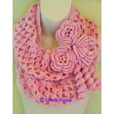 Blushing Flowers Infinity Scarf