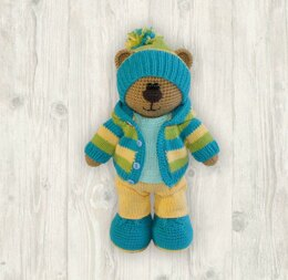 Billy Bear Crochet + Knitting Pattern (with clothes)
