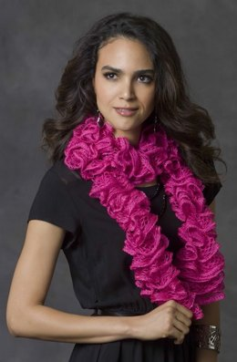 Color Splash Scarf in Red Heart Boutique Sashay - LW3290
