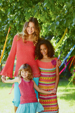 Striped Top in Schachenmayr Catania Fine - S7363 - Downloadable PDF
