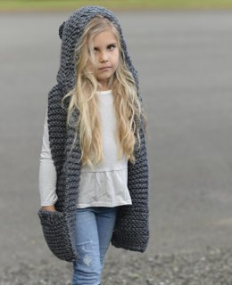 Tuft Hooded Scarf