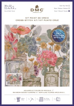 DMC Rainbow Seeds Flowers X Cross Stitch Kit