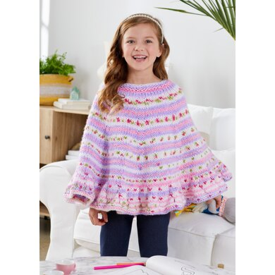Rosy Day Poncho in Premier Yarns Bloom Chunky - Downloadable PDF